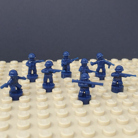 Nano Soldier Figures - Dark Blue