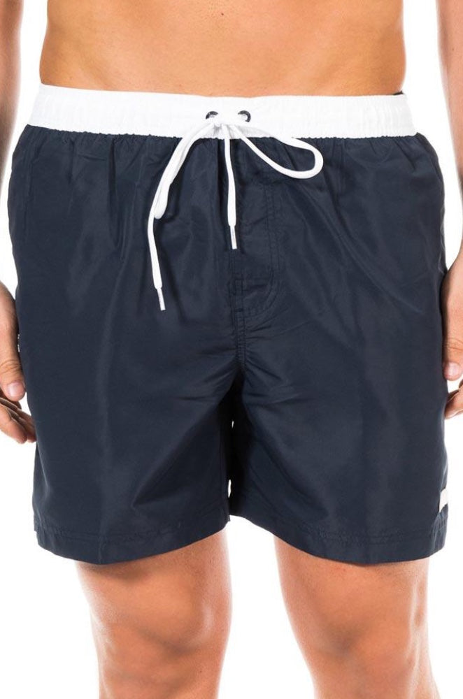 Calvin Klein Mens Drawstring Tie Volley shorts marine and white