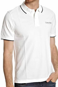 Calvin Klein Mens Polo Shirt White