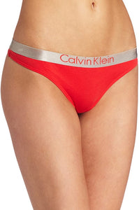 Calvin Klein Womens Cheeky Chrome Thong String