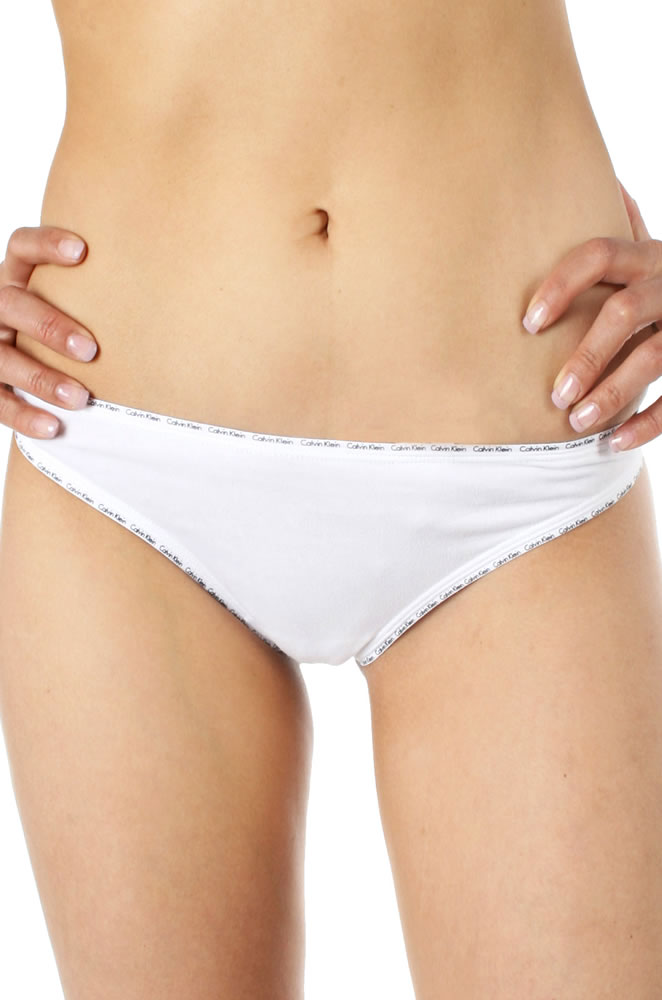Calvin Klein Womens CK 2 Pack Cotton Bikini Brief