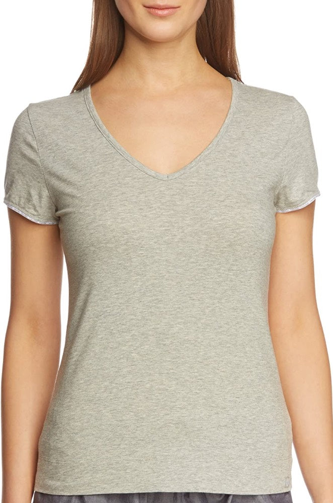 Calvin Klein Womens V-Neck Classic Cotton T-Shirt