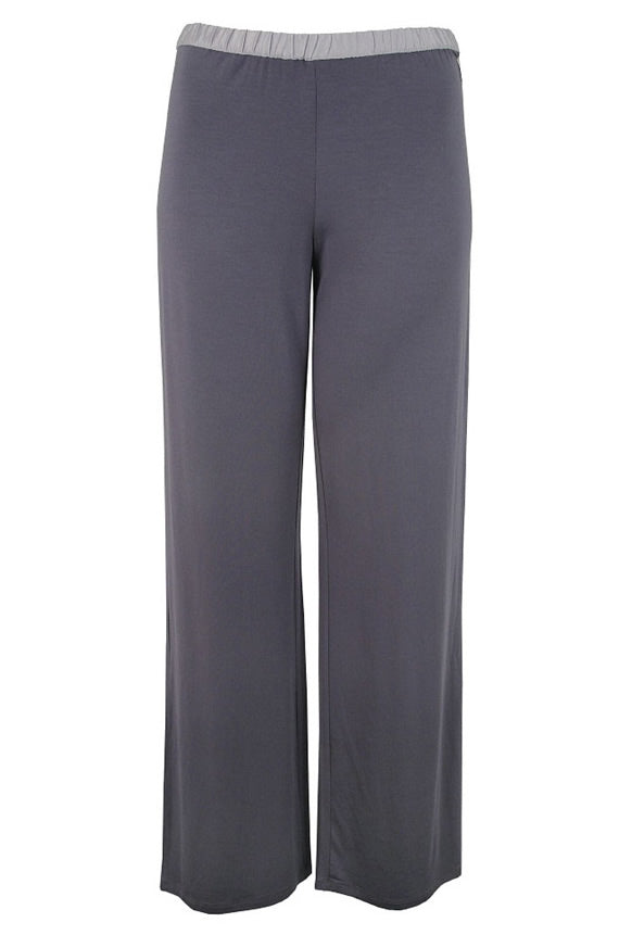 Calvin Klein Womens Essentials With Satin Long Pant Charcole