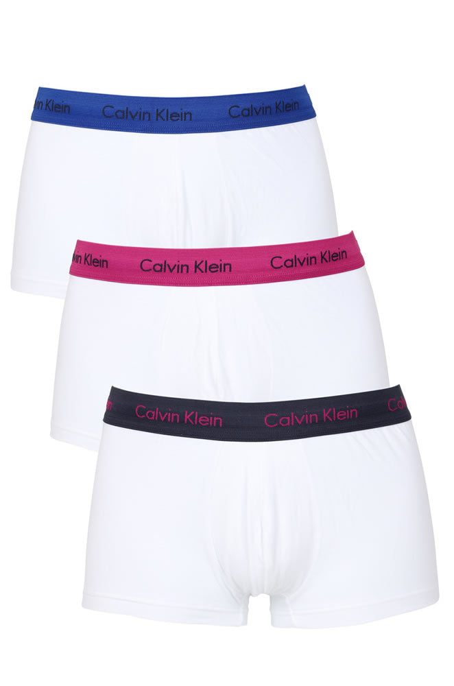 Calvin Klein Mens 3 Pack Low Rise Trunk Mix Band