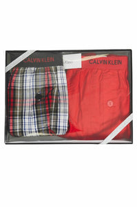Calvin Klein Mens Woven 2 Pack Boxers Gift Box