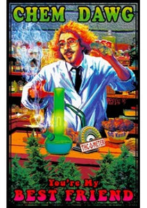 CHEM DAWG CANNABIS BLACK LIGHT POSTER