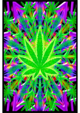 HEADY LEAF TRIPPY BLACK LIGHT POSTER