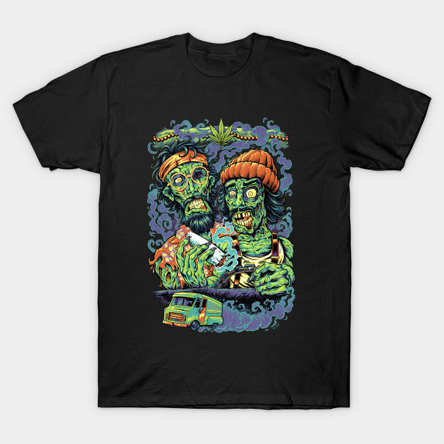 CHEECH AND CHONG ZOMBIES BLACK T-SHIRT