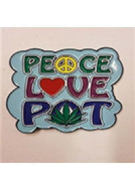 PEACE LOVE AND POT HAT PIN