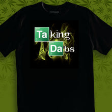 Load image into Gallery viewer, TAKING DABS BLACK MEN'S T-SHIRT BY ERBIVORE