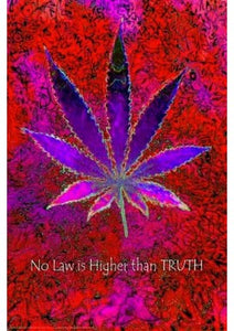 NO LAW HIGHER - CANNABIS LEAF POSTER