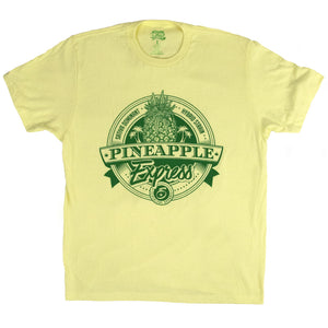 SEVEN LEAF PINEAPPLE EXPRESS STRAIN YELLOW T-SHIRT MEN'S