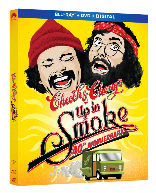 CHEECH AND CHONG'S UP IN SMOKE 40TH ANNIVERSARY EDITION NEW DVD IN SLEAVE