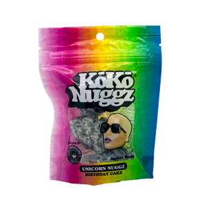 KoKo NUGGZ 1 OUNCE BAGGIES UNICORN AMBER ROSE OFFICIAL - BIRTHDAY CAKE FLAVOUR
