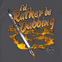 Load image into Gallery viewer, HAPPY DADDY COLLAB - I'D RATHER BE DABBING GREY MEN'S T-SHIRT BY ERBIVORE