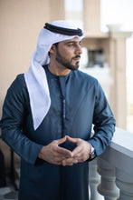 Load image into Gallery viewer, Dark Blue Emirati Kandoora