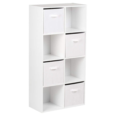 8 Cube Bookcase Storage Unit in White - Laura James