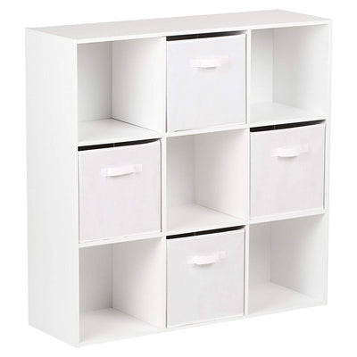 9 Cube Storage Unit / White Bookcase - Laura James
