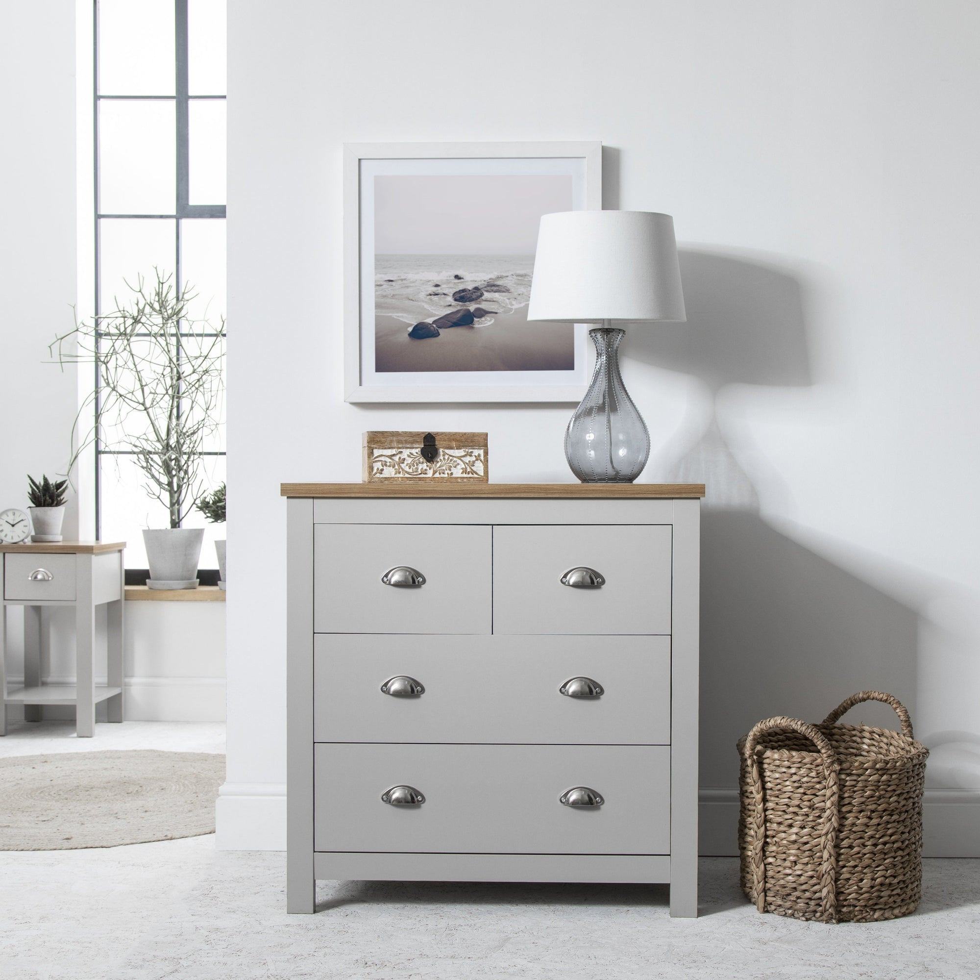 2 Over 2 - Chest of Drawers in Grey