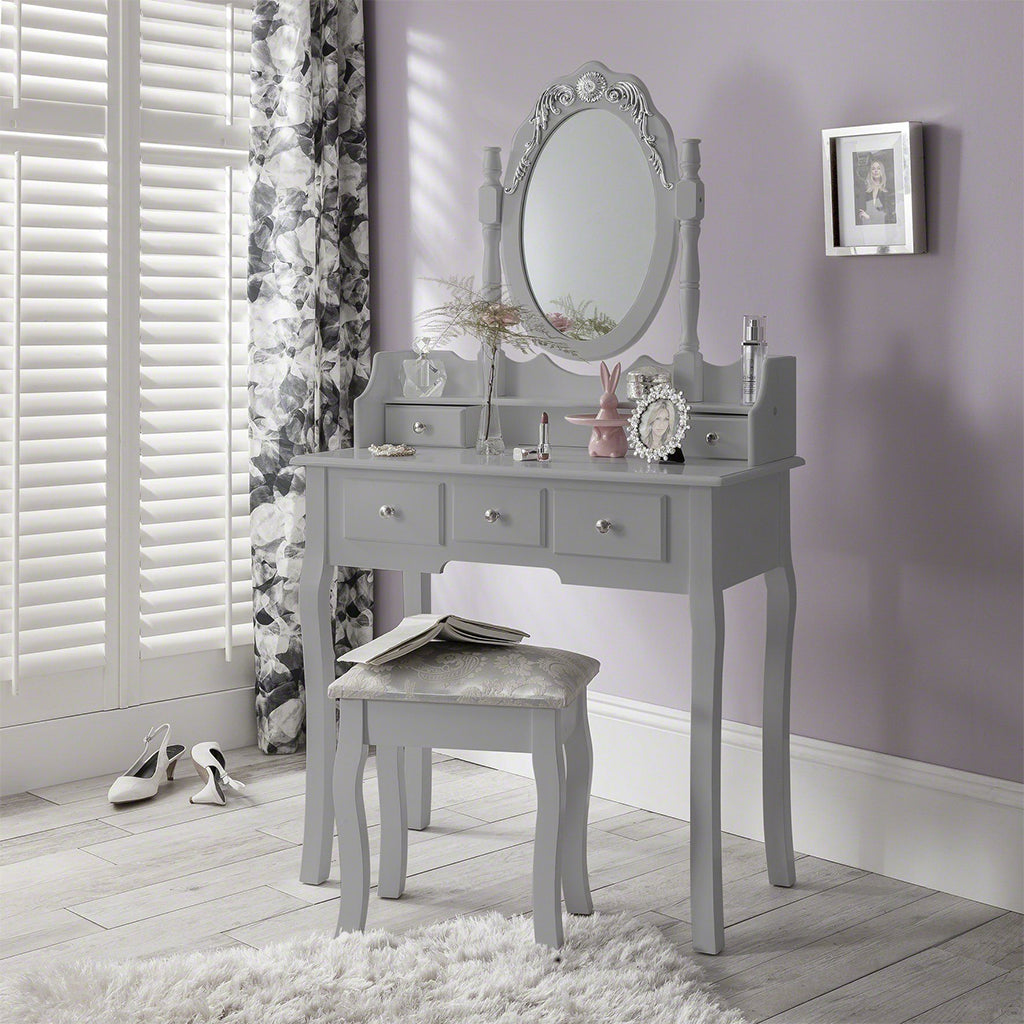 Capri grey dressing table set - Laura James