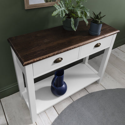 Chatsworth Console Table in White - Laura James