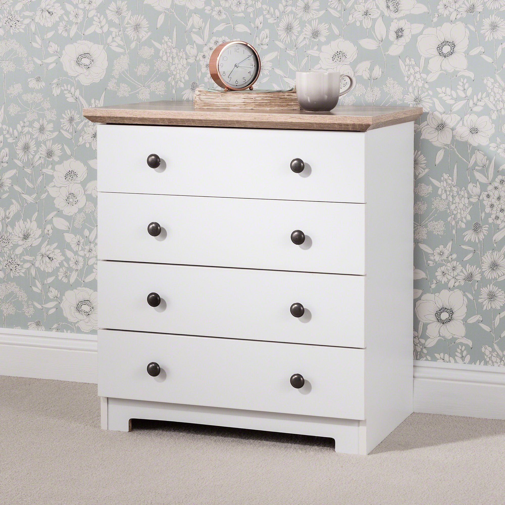 Chests of Drawers 4 Drawer White - Laura James