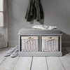 Grey Shoe Storage Bench - Hallway Storage Bench - Laura James