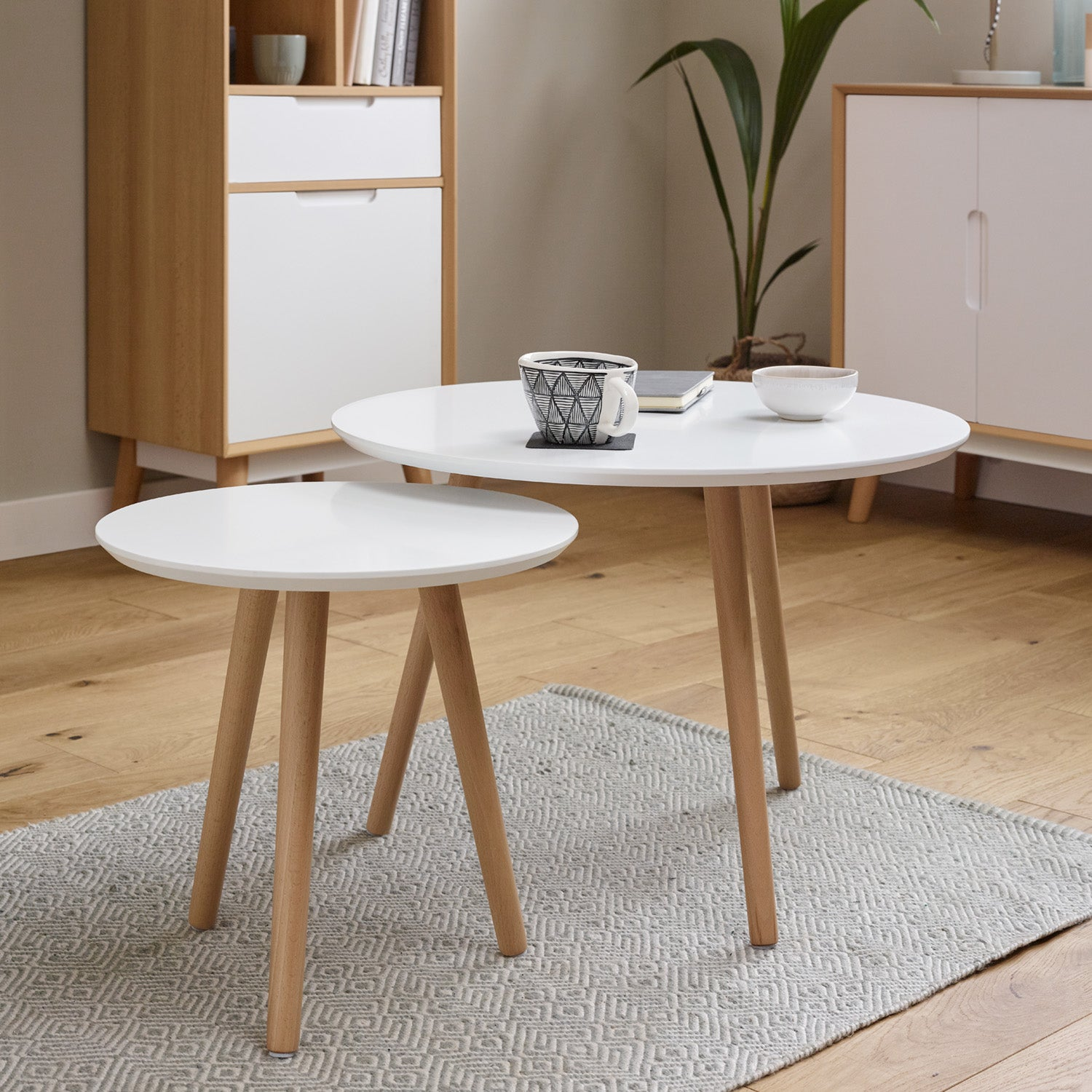 Hulra nest of tables - white - Laura James