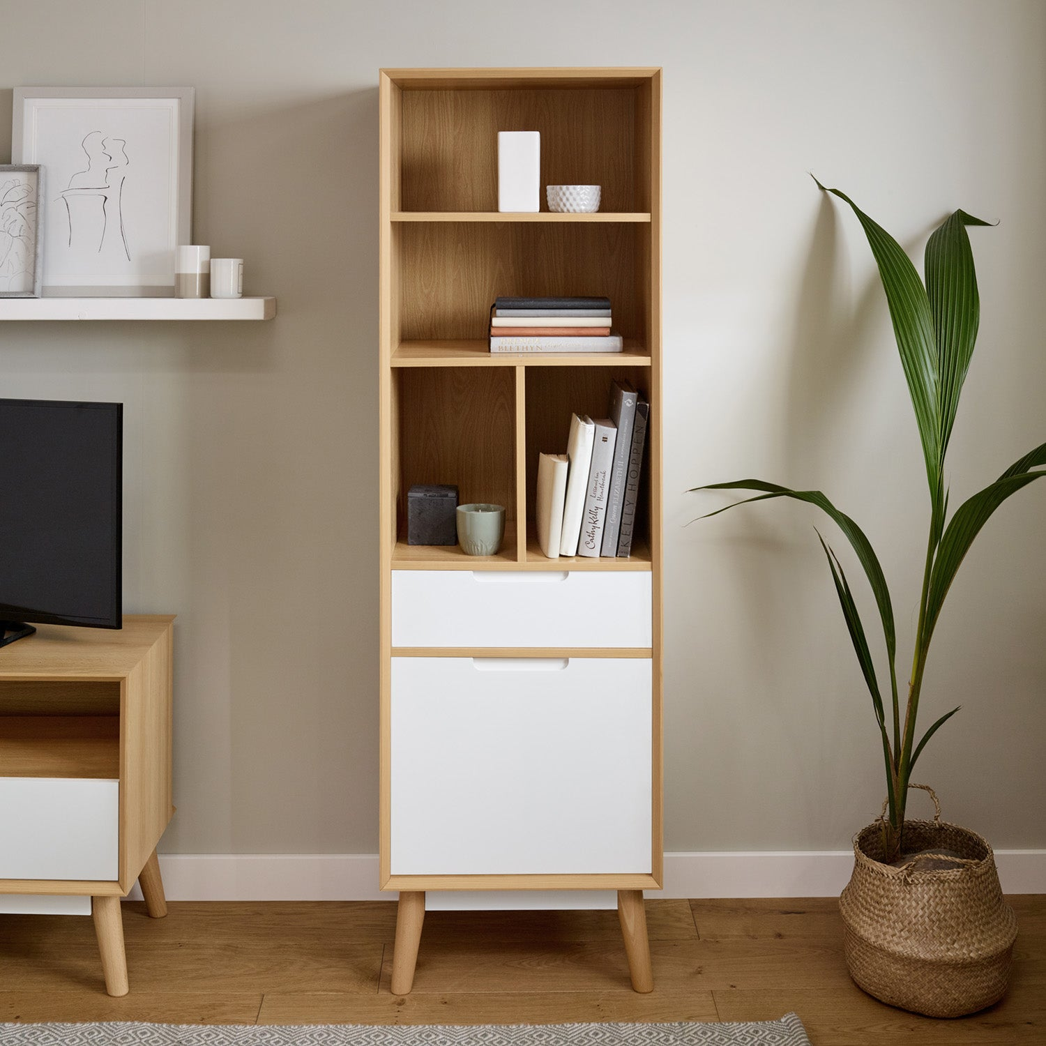 Hulra tall bookcase - white - Laura James