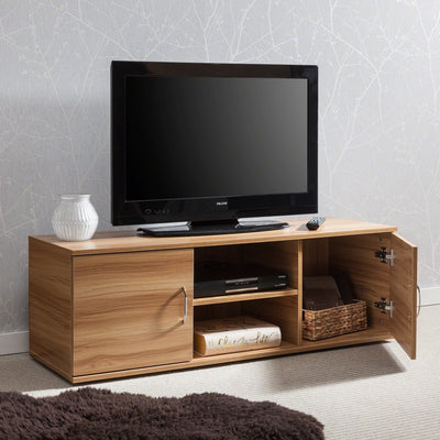 Beech TV Cabinet With Doors - Laura James