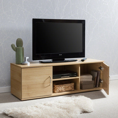 TV Cabinet with Storage, Doors and Shelf - (Oak) - Laura James