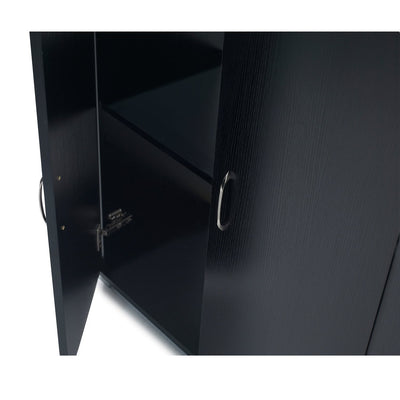 Home Office Cupboard Cabinet in Black - Laura James