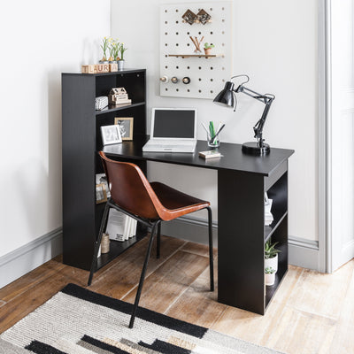 Black Desk with Shelves - Laura James