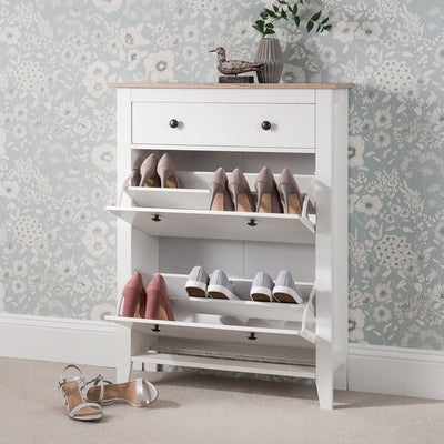 Shoe Cabinet Wooden Storage Cupboard - Laura James