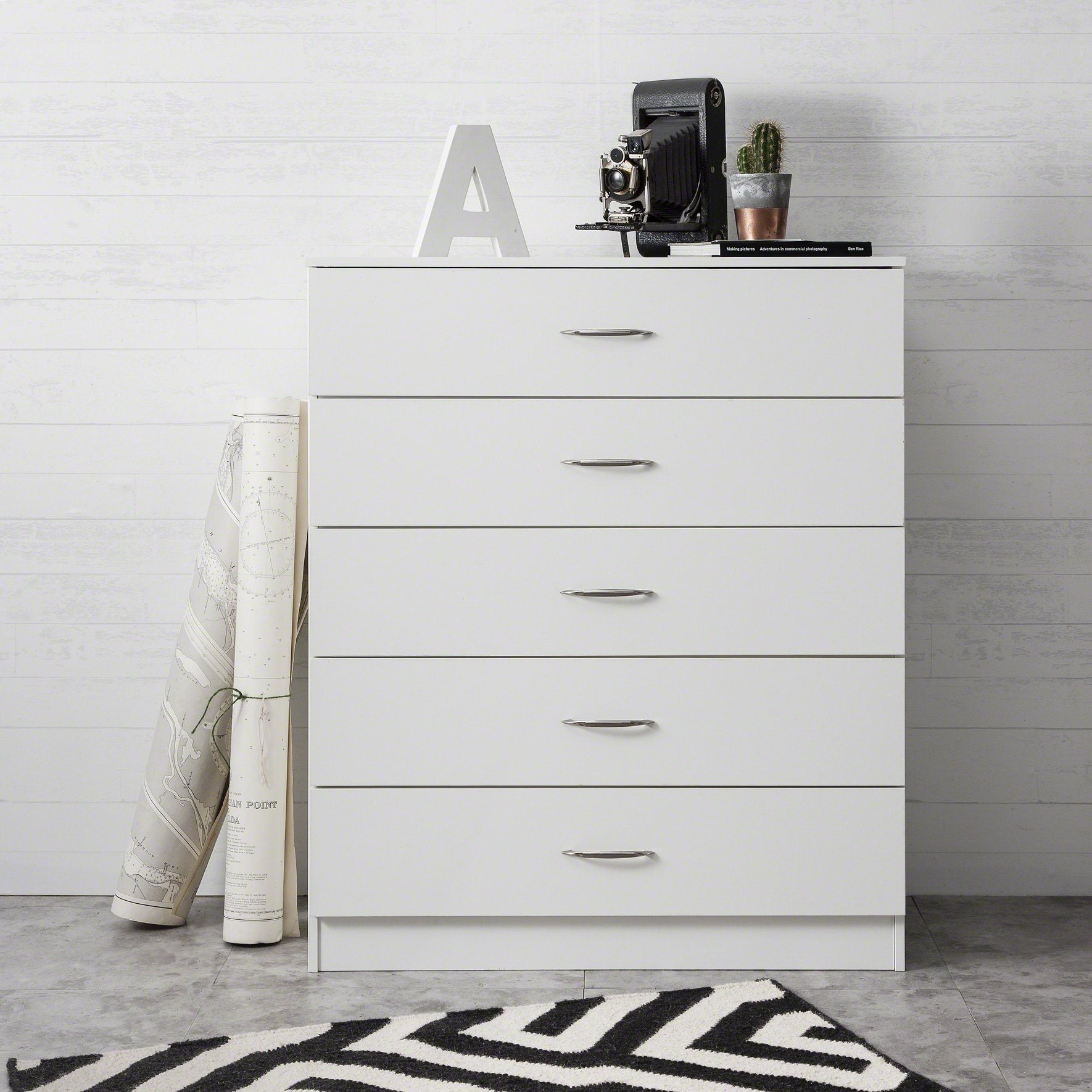 White Chest of Drawers - Laura James