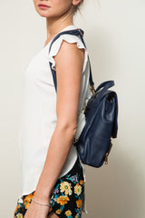 Cleo Navy Backpack