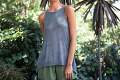 High-Low Grey Tank