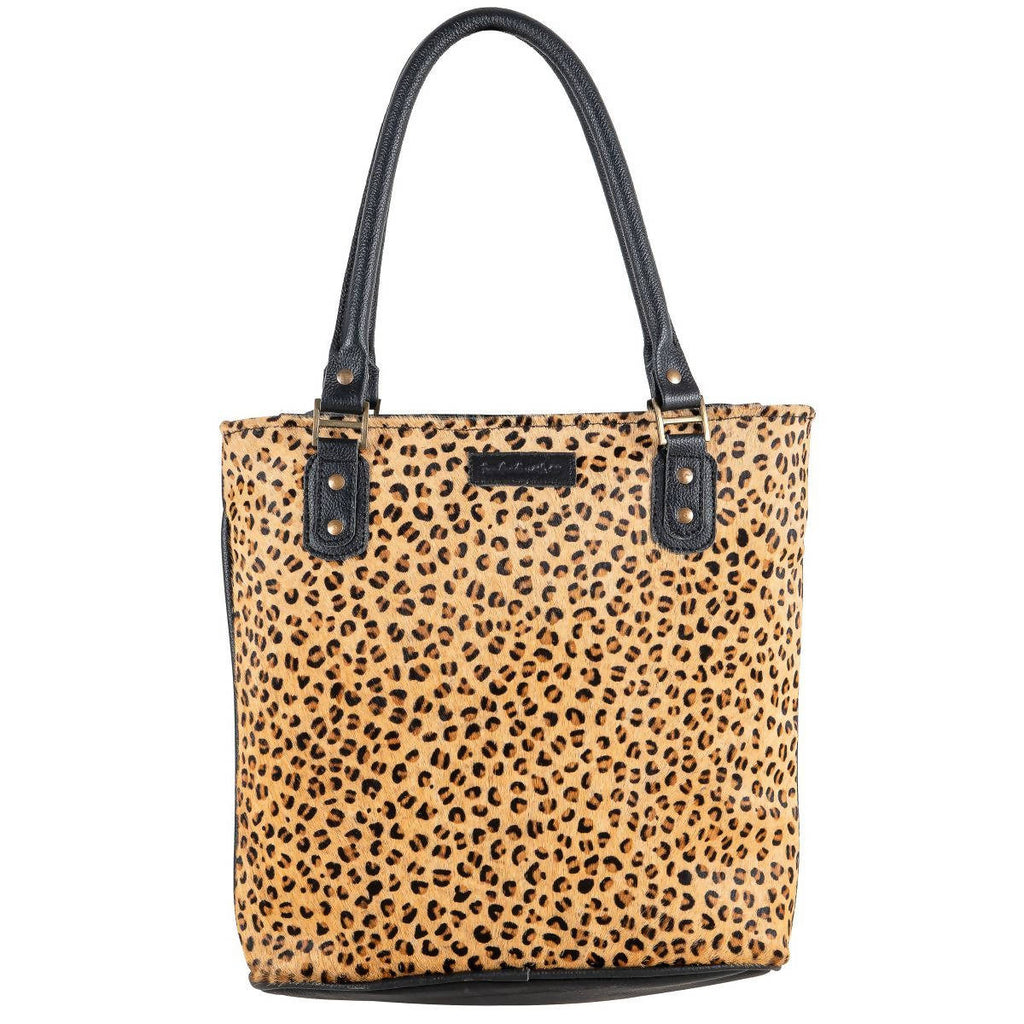"""Sixtease"" Leopard Tote Bag 40- 2510"