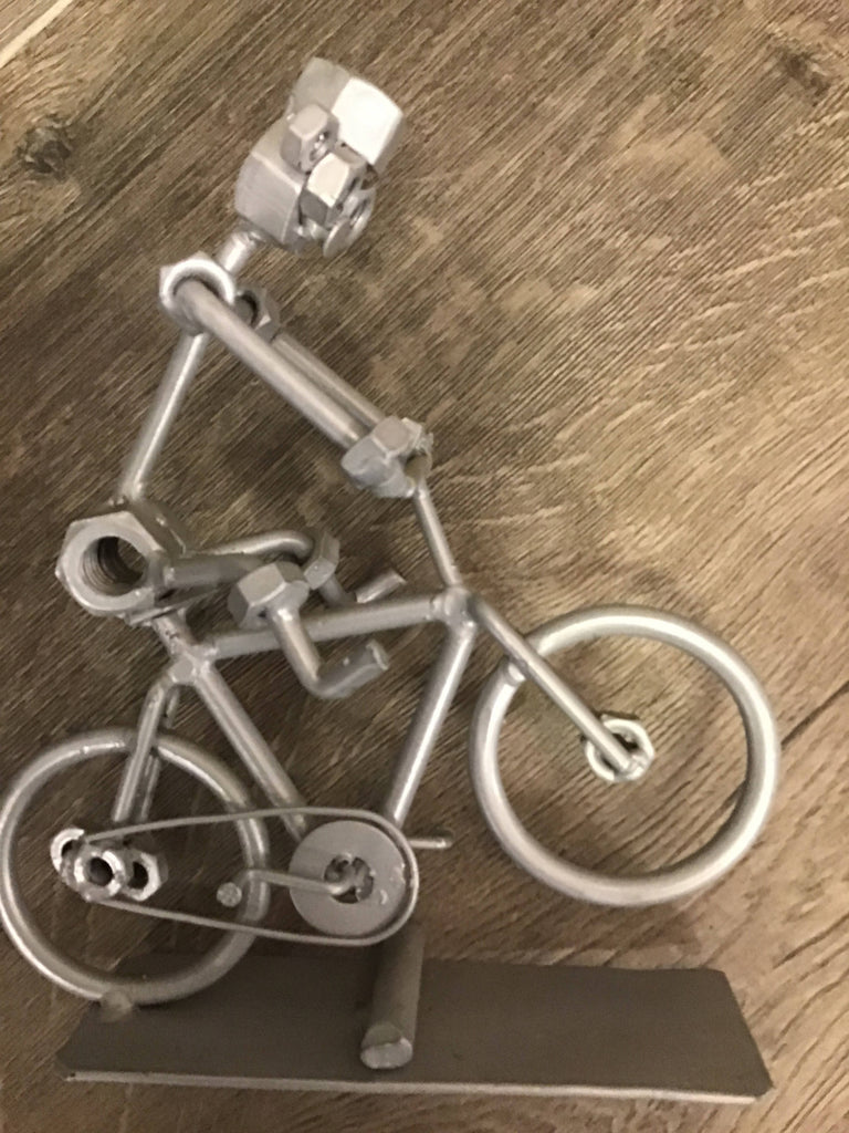 Metal screw bicycle home decor