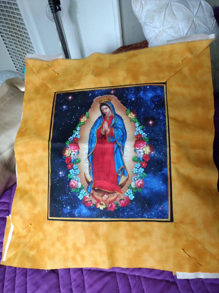 Gold Guadalupe pillow