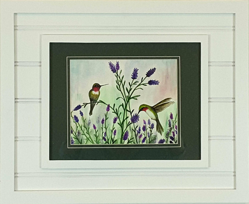 Hummingbirds & Lavendar