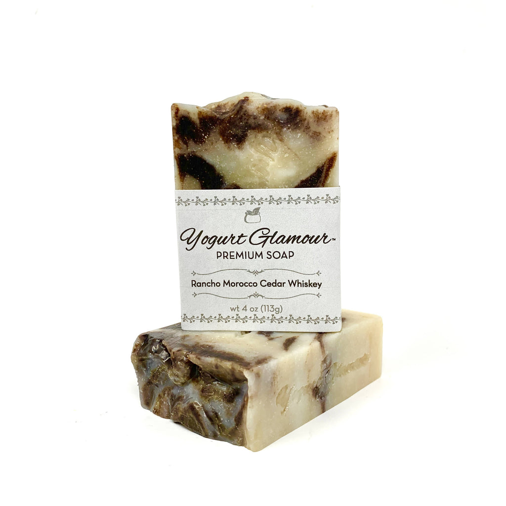 Rancho Cedar Whiskey Yogurt Rustic Natural Handmade Bar Soap-With Essential Oils of Cedarwood and Sage(4 oz)