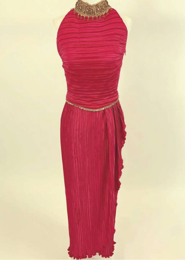 George F. Couture Pink Gown Size-4 (Vintage Dress)