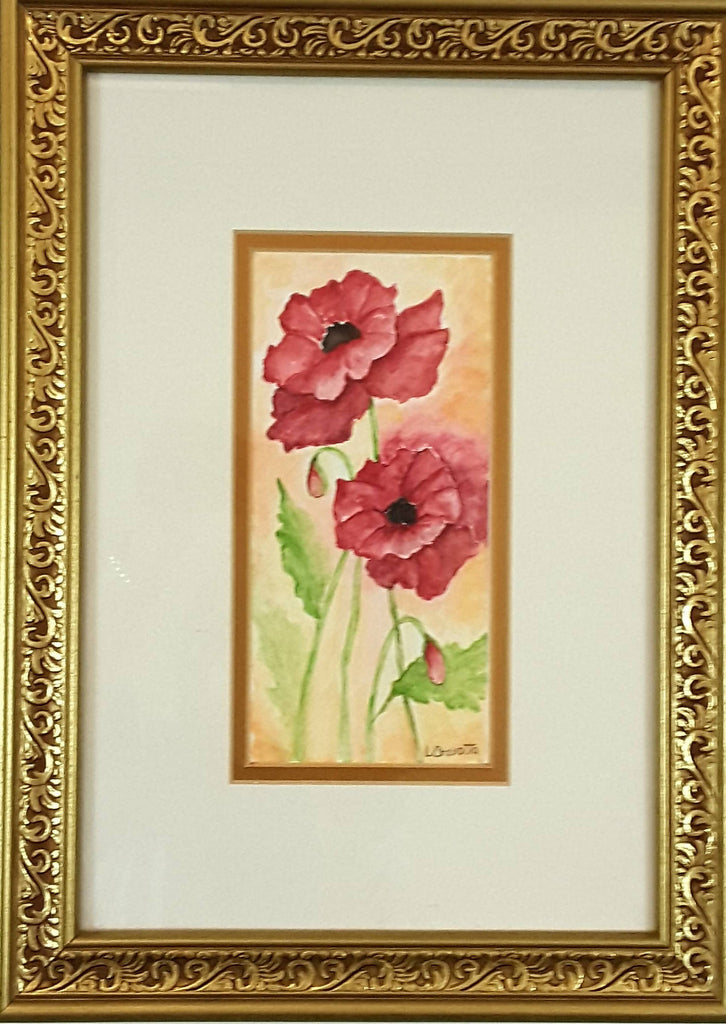 Poppies in watercolor