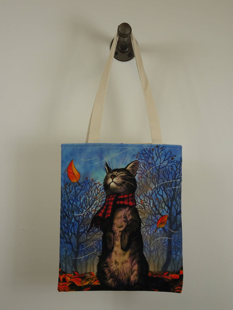 Cat with Scarf Tote Bag