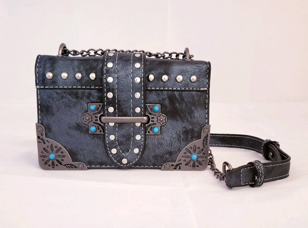 PU leather crossbody bag - H015