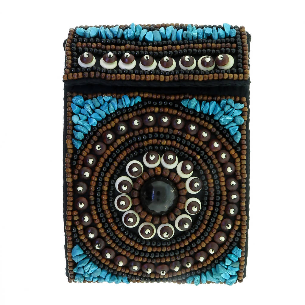 Culture Shock Passport Bag - Turquoise & Bone