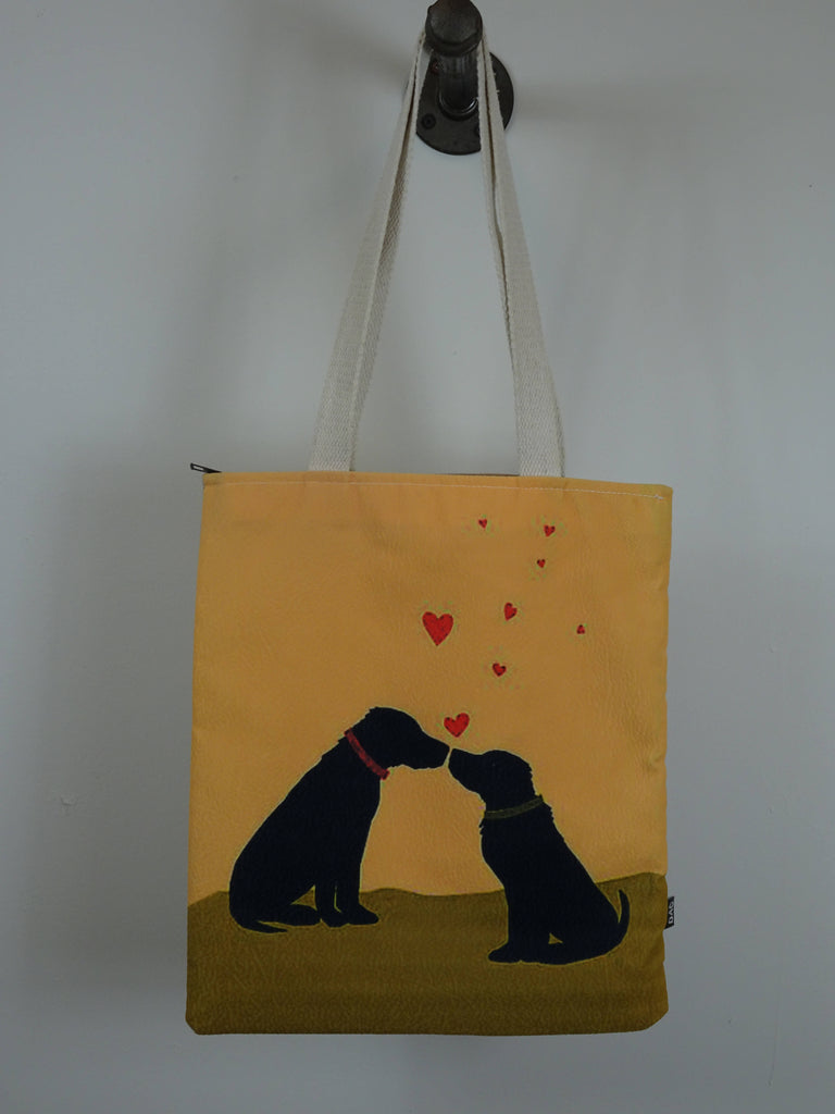Dogs in love Tote bag