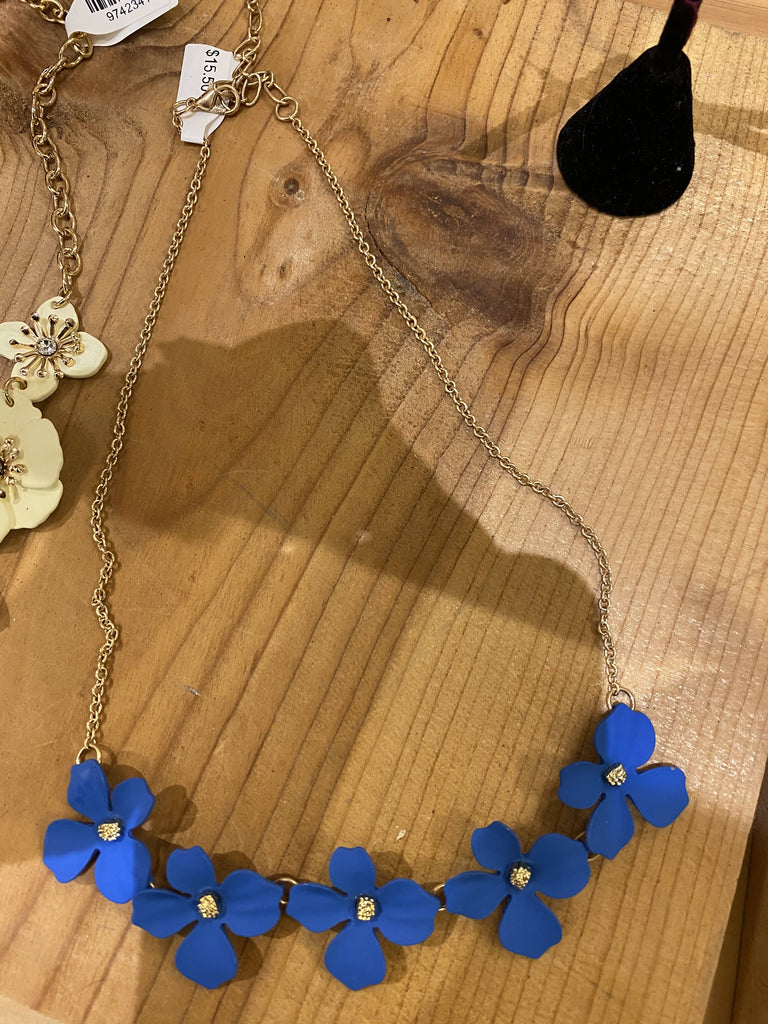 Jewerly /JB collection blue flower necklace 525