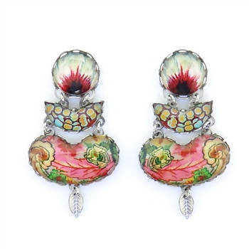 Ayala Bar Floral Coral Cave Earrings